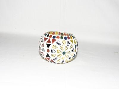 Gojeeva Glass 1 - Cup Tealight Holder(Multicolor, Pack of 1) at flipkart