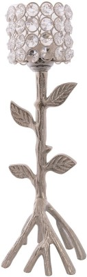 eCraftIndia Love Moments Tree Shape Crystal 1 - Cup Tealight Holder(White, Silver, Pack of 1) at flipkart