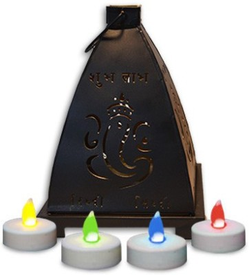 Yes No Iron Tealight Holder Set(Black, Pack of 1) at flipkart
