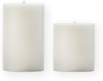 Sophies PILLAR Candle(White, Pack of 2)