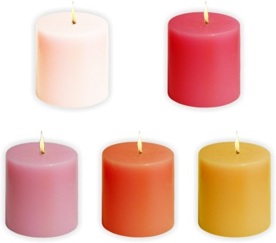 Sophies SCANTED_5 Candle(Multicolor, Pack of 5)