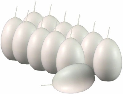 Sophies EGG12 Candle(White, Pack of 12)