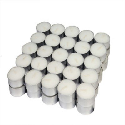 Magical Petals Tealight Candle(White, Pack of 50) at flipkart