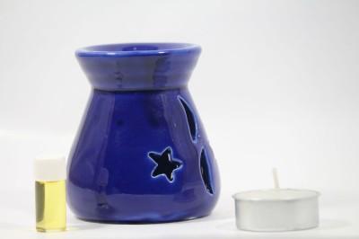 AuraCandles AuraDecor Triangular Cut Polished Diffuser with a Tealight Candle(Blue, Pack of 3) at flipkart