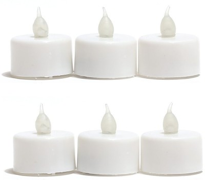 Huskey Electric Diwali Diya Candle(White, Pack of 6)  available at flipkart for Rs.265