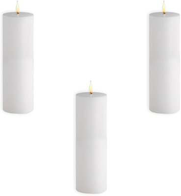 Sophies 2X6 Candle(White, Pack of 3)