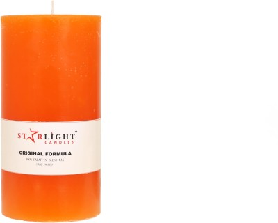 Starlight Candles jyoti Candle(Orange, Pack of 1)
