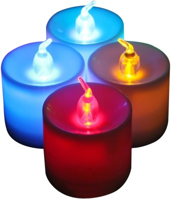 EZ Life 7-Color Changing LED Tea Light Candles Candle(Multicolor, Pack of 4)