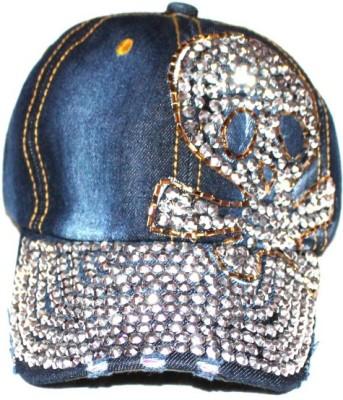 99DailyDeals Denim Stone Skull R25 Cap Cap