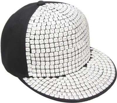 Vaishnavi Self Design Silver Cap
