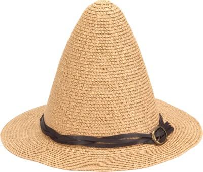 FabSeasons Solid Long Brim Beach Hat Cap