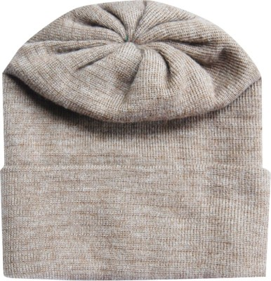 The Modern Knitting Shop Double Accrelic Blended Woolen Solid Skull Cap