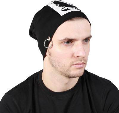 Noise Che Guevara Beanie- Black With Ring Printed Skull Cap