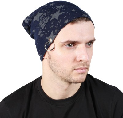 Noise Striped Skull Cap Cap