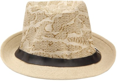 Eccellente Self Design Fedora Hat Cap