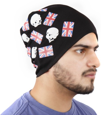 Noise Rocky Rocks Blue Beanie With Ring Printed Skull Cap