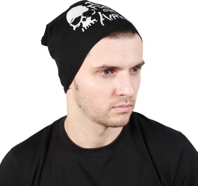 Noise Fault in our stars Beanie-Blue Printed Skull Cap