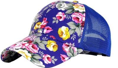 Nimble House Floral Print Snapback Baseball Cap Floral Perforated Ball Caps Golf Cap Summer Mesh Cap for Women Teens Girls & Boys Cap