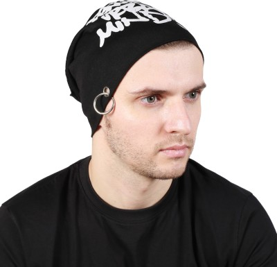 Noise Genuine Urban Minds Beanie-Black With Ring Printed Skull Cap