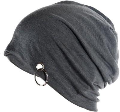 Saifpro Solid Gray Plain Cotton Cap