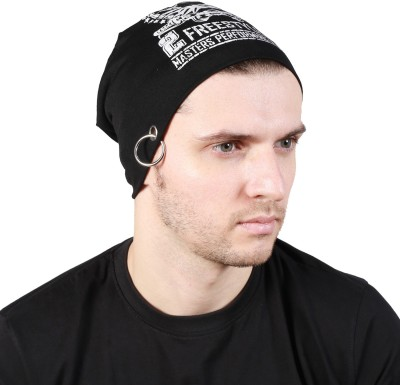 Noise Freestyle Beanie-Black With Ring Printed Skull Cap