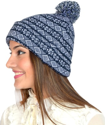 513 Graphic Print BEANIE WITH POMPOM Cap