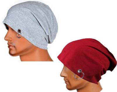 Atyourdoor Solid Skull Cap(Pack of 2)