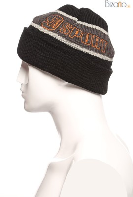 Mode stoff Striped Skull Cap B&W Lining And Mode Stoff Slouchy Beanie for Summer, Winter, Autumn & Spring Season, Can be used as a Helmet Cap too Cap