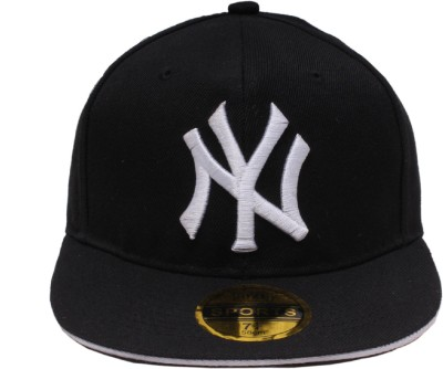 Sushito Solid Black Summer NY Hip Hop Cap  available at flipkart for Rs.210