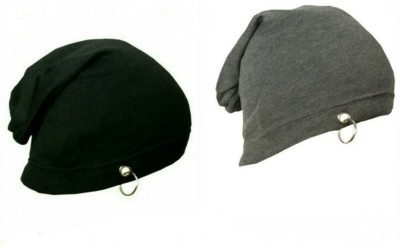 Shopping Store Solid Winter Woolen Long Cap(Pack of 2)