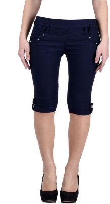 Kritika's World Women Blue Capri at flipkart
