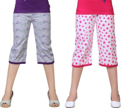 Sini Mini Capri For Baby Girls Printed Cotton(Multicolor Pack of 2)