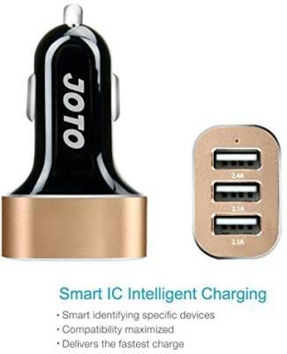 Joto-6.6A/33W-Triple-USB-Car-Charger
