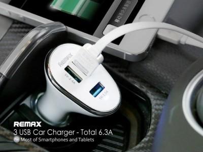 Remax-6.3A-3-USB-Port-Car-Charger