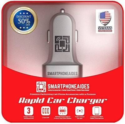 SmartPhoneAides-5.1A-Triple-USB-Car-Charger