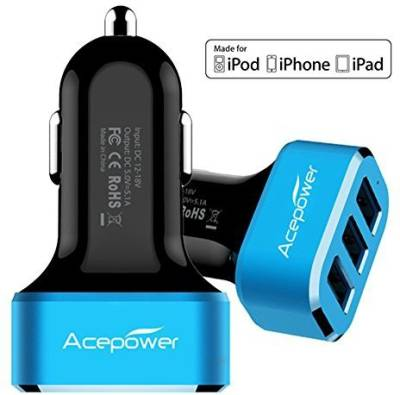 Acepower-5.1A-Triple-USB-Car-Charger
