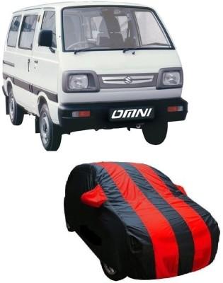 ACCESSOREEZ Car Cover For Maruti Suzuki Omni (With Mirror Pockets)(Red,  Black) | 25-July-2019