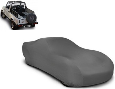 Auto Track Car Cover For Maruti Suzuki Gypsy (Without Mirror Pockets)(Grey) at flipkart