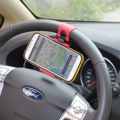Baakyeek Car Mobile Holder for Steering(Red)
