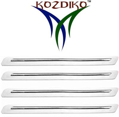 Kozdiko Stainless Steel, Plastic Car Bumper Guard(White, Pack of 4, Hyundai, Grand i10)  available at flipkart for Rs.599