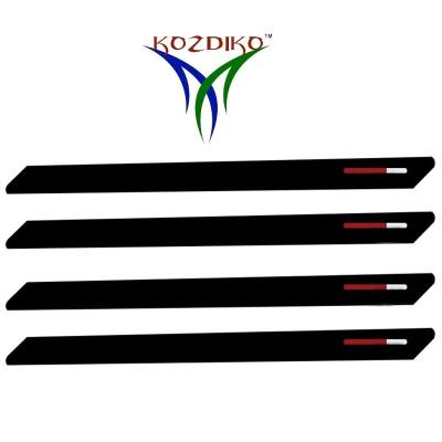 Kozdiko Stainless Steel, Plastic Car Bumper Guard(Black, Red, Pack of 4, Hyundai, Grand i10)  available at flipkart for Rs.599