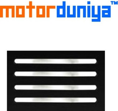 Motor Duniya Stainless Steel Car Bumper Guard(Silver, Pack of 4, Hyundai, Grand i10)  available at flipkart for Rs.649