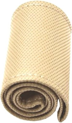 AutoKit Steering Cover For Hyundai Elite i20(Beige, Leatherite)  available at flipkart for Rs.500