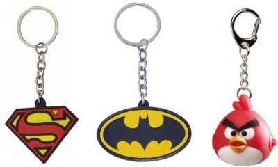 Chainz Superman Batman and Angry Bird Led Key Chain(Multicolor)  available at flipkart for Rs.249