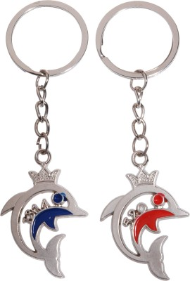 Oyedeal Kycn572 1314 Forever 520 I Love You Couple Dolphin Key Chain(Multicolor)  available at flipkart for Rs.155