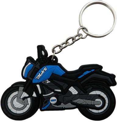 GCT KTM Duke Logo Sky Blue Black Synthetic Rubber Bike Design-B Key Chain(Blue)  available at flipkart for Rs.161