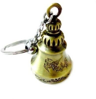 Ezone Bell Antique Brass Colour Locking keychain(Antique Brass) Key Chain