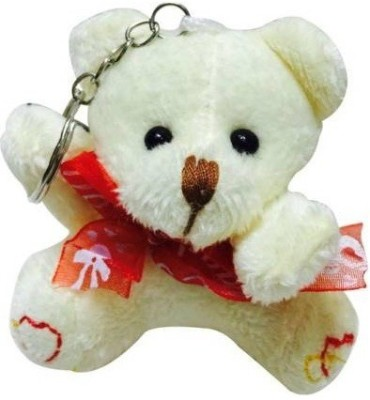 Parrk Romantic Soft Toy Teddy Love Couple Valentines Day Gift Key Chain(White)  available at flipkart for Rs.148