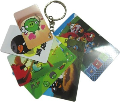 DCS Angry Bird Cards Keychain (6 Cards) Key Chain  available at flipkart for Rs.115