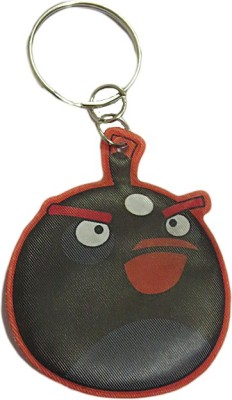 DCS Angry Bird Keychain Locking Key Chain(Black, Red)  available at flipkart for Rs.115